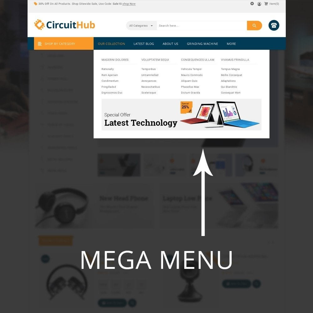 theme - Elektronik & High Tech - Circuit Hub - The Mega Shop - 10