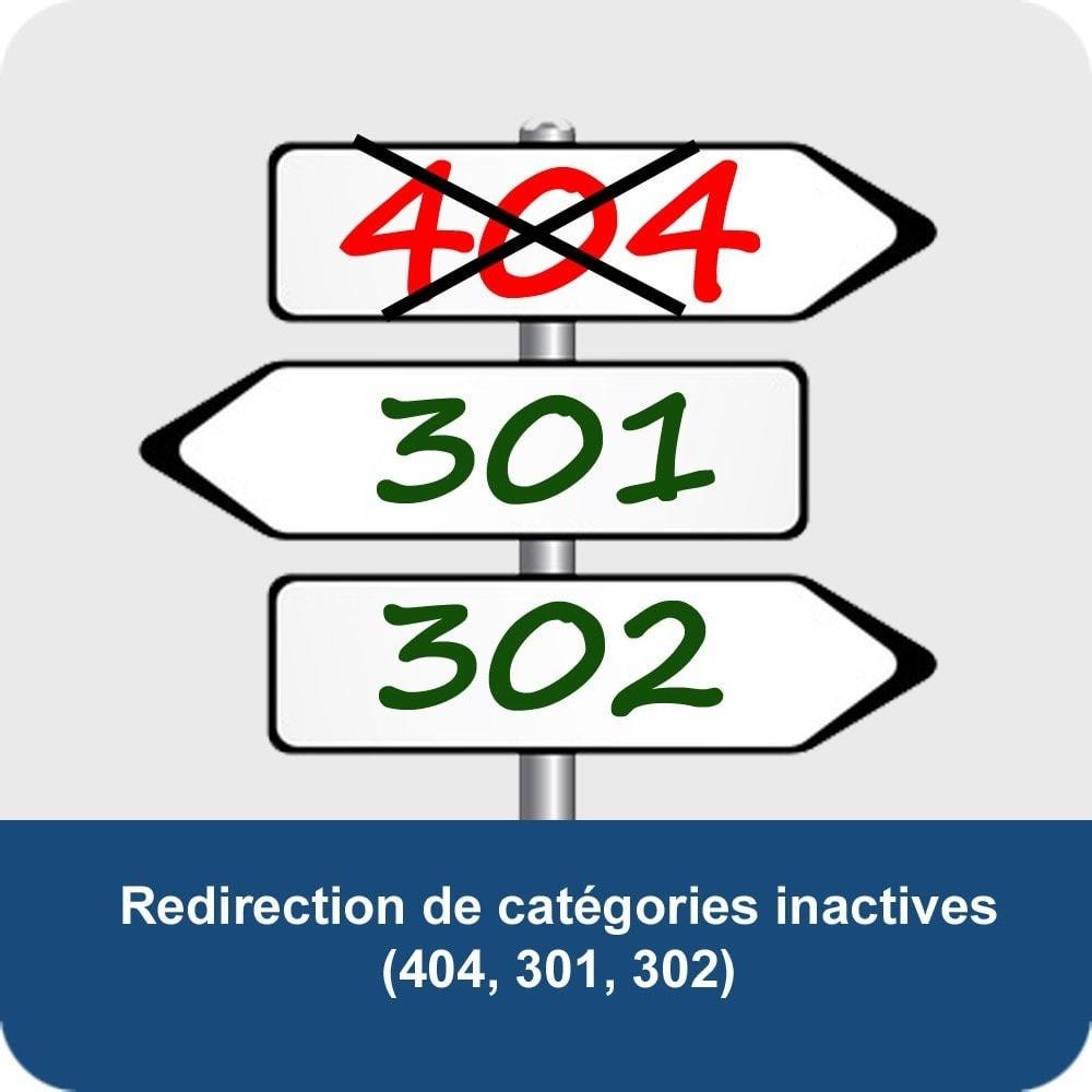 module - SEO (référencement naturel) - Redirection de catégories désactivées (SEO) - 1
