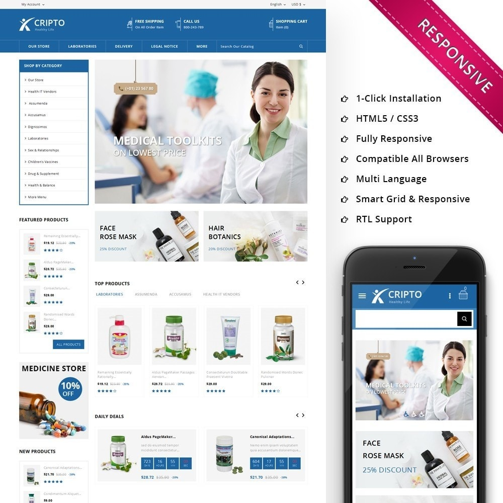theme - Health & Beauty - Cripto - The Medical Store - 1
