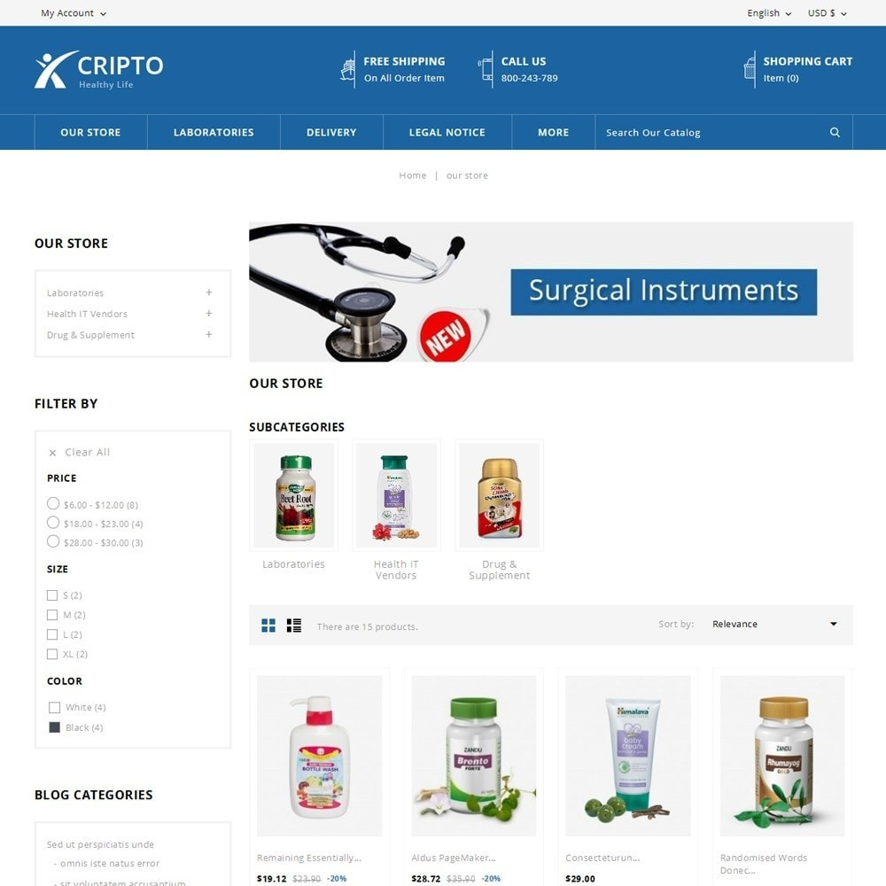 theme - Health & Beauty - Cripto - The Medical Store - 4