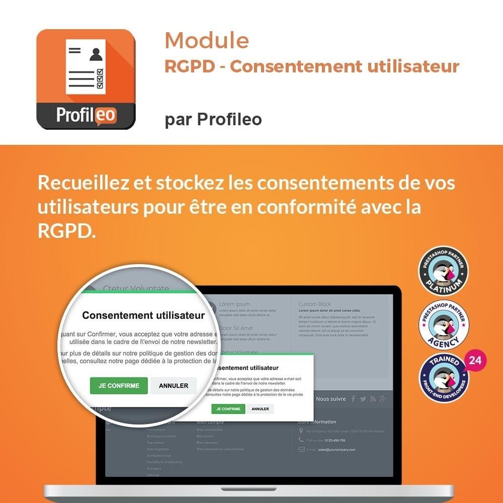 module - Législation - RGPD - Consentement utilisateur - 1