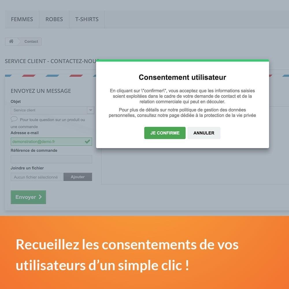 module - Législation - RGPD - Consentement utilisateur - 3