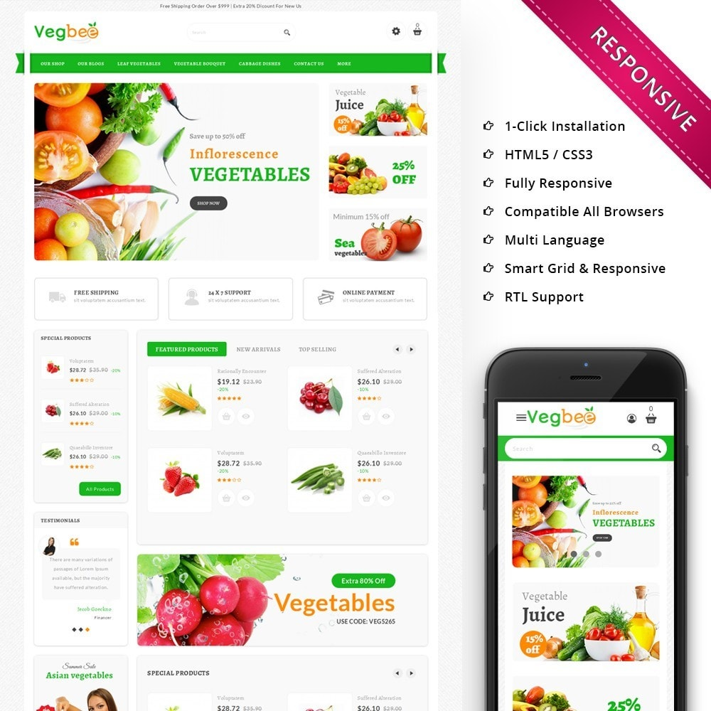theme - Lebensmittel & Restaurants - Vegbee - The Grocery Store - 1