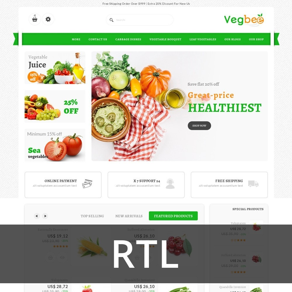 theme - Lebensmittel & Restaurants - Vegbee - The Grocery Store - 3