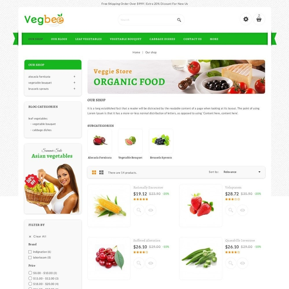 theme - Lebensmittel & Restaurants - Vegbee - The Grocery Store - 4