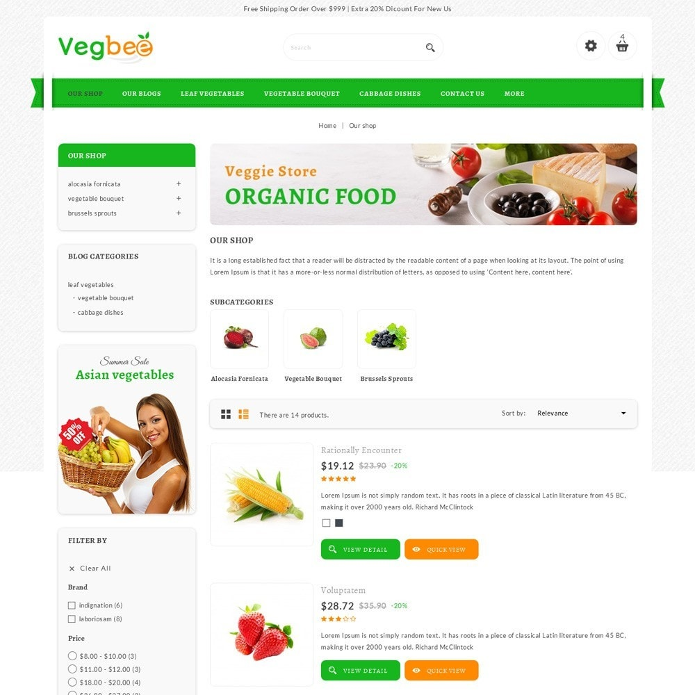 theme - Lebensmittel & Restaurants - Vegbee - The Grocery Store - 5