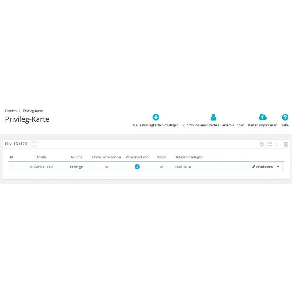 module - Empfehlungs- & Kundenbindungsprogramme - Privileg-Karte - 3