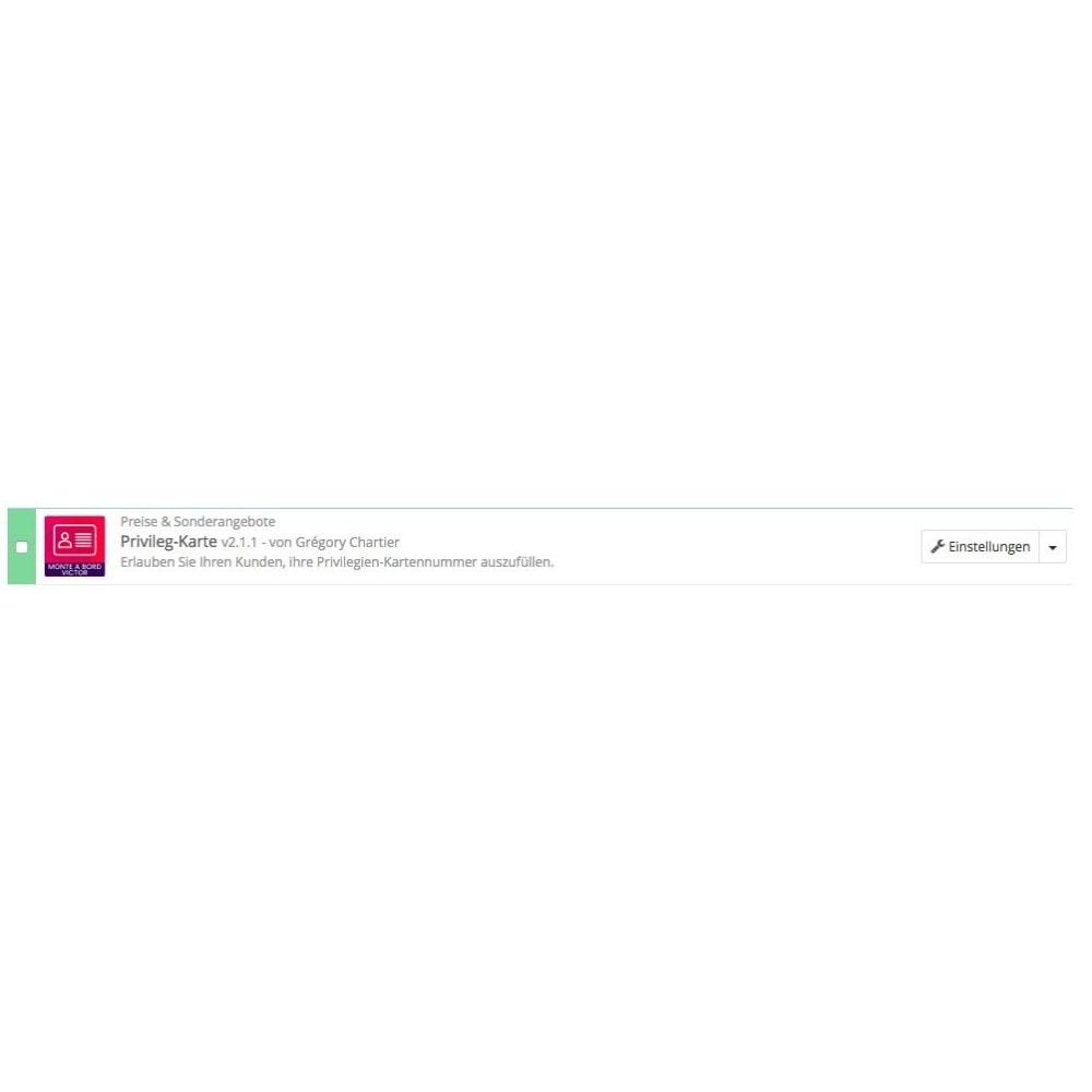 module - Empfehlungs- & Kundenbindungsprogramme - Privileg-Karte - 8