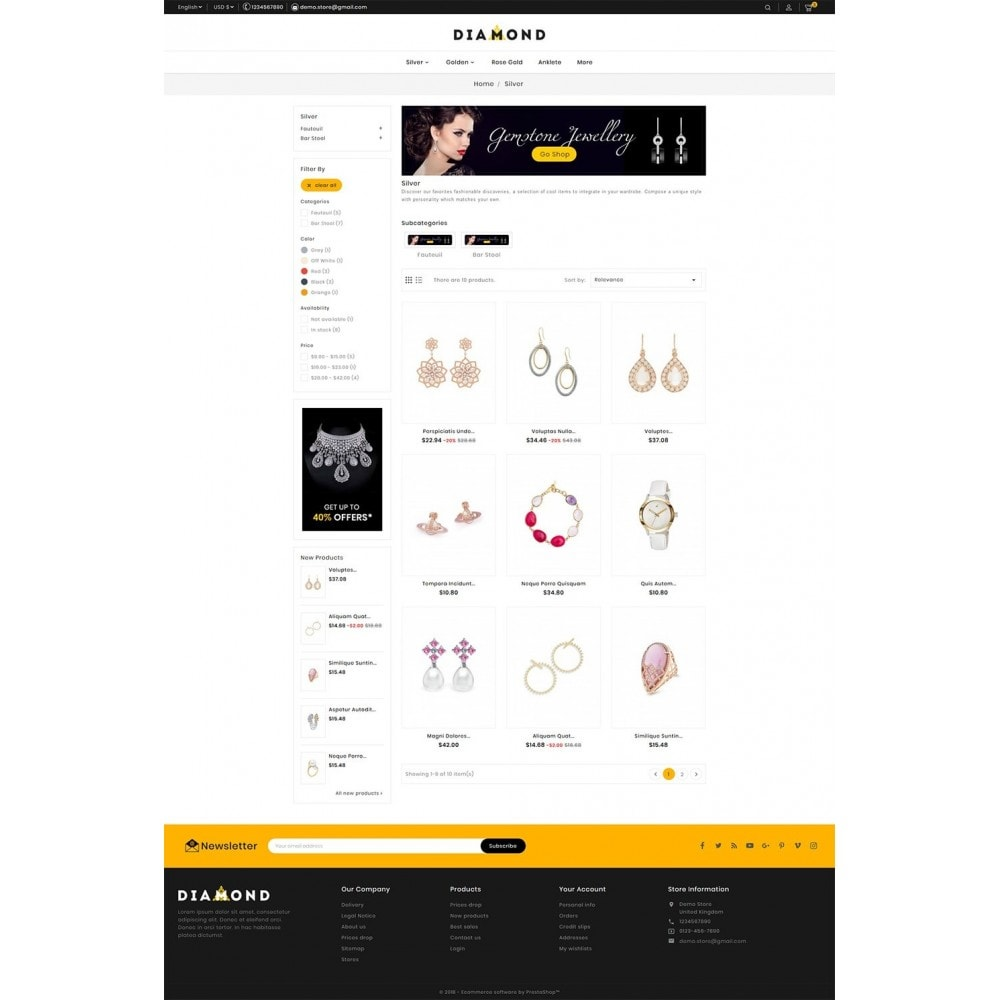 theme - Bellezza & Gioielli - Diamond Jewelry - 3