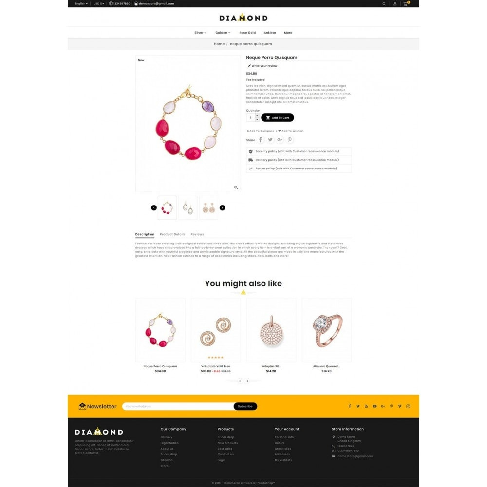 theme - Bellezza & Gioielli - Diamond Jewelry - 5