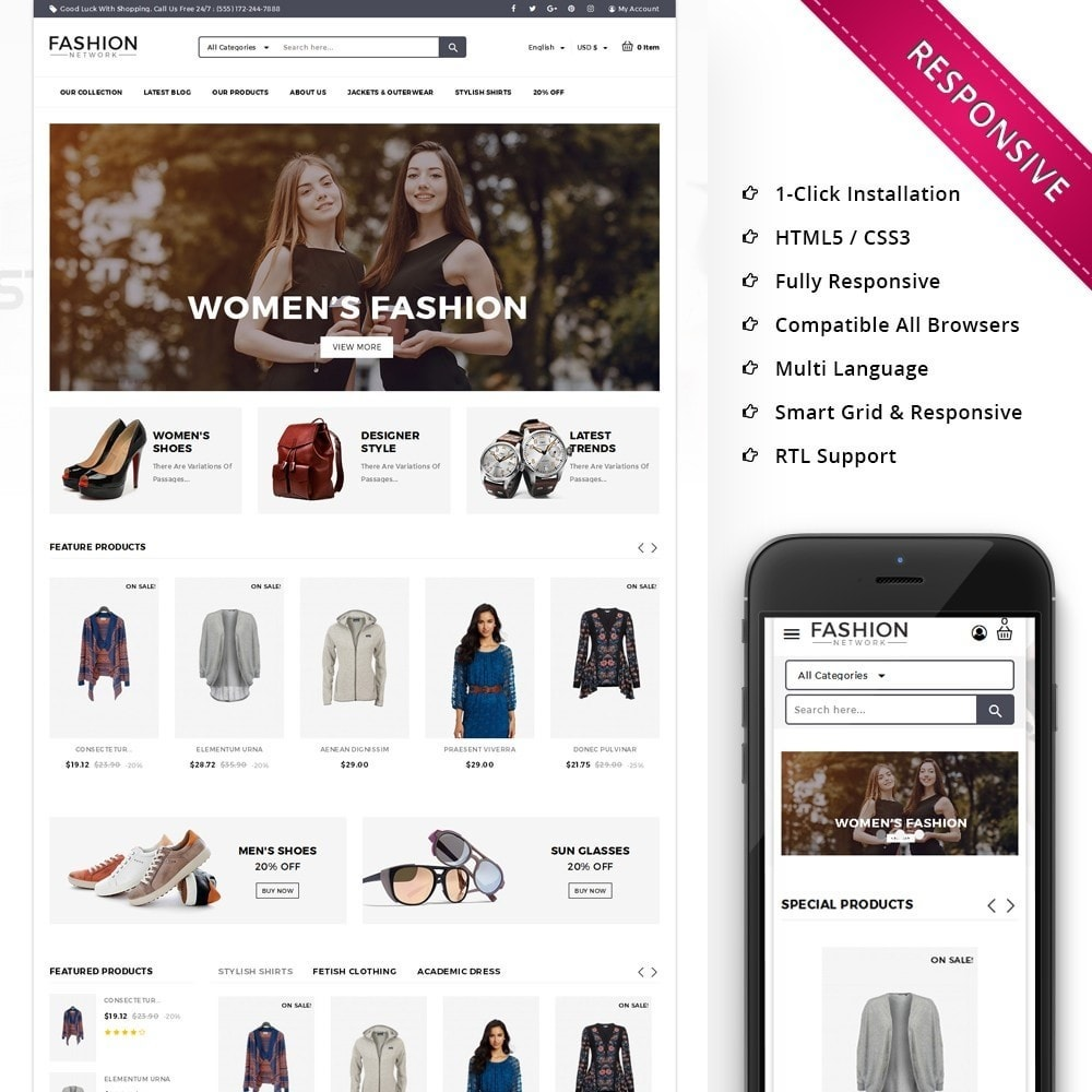 theme - Mode & Chaussures - Fashion Network - The Fashion Shop - 1