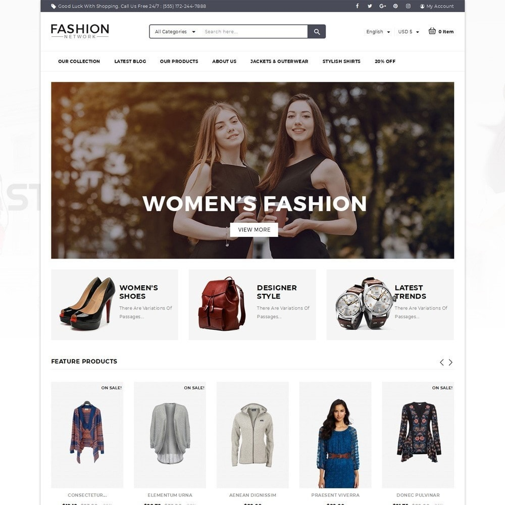 theme - Mode & Chaussures - Fashion Network - The Fashion Shop - 2