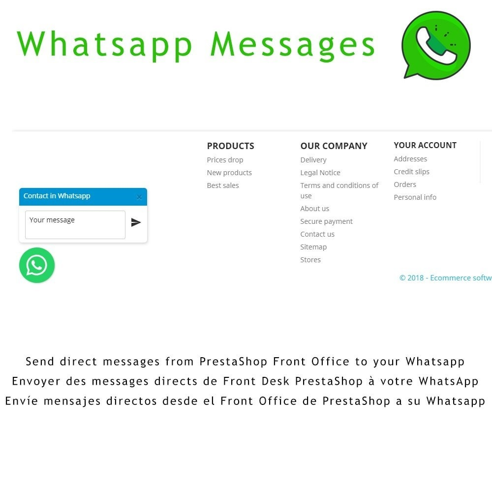 module - Support & Online Chat - Whatsapp MSG - 1