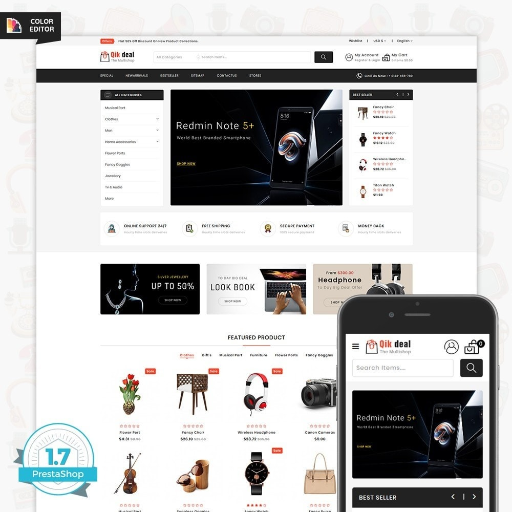 theme - Elettronica & High Tech - Qik deal - The Mega Ecommerce Store - 1