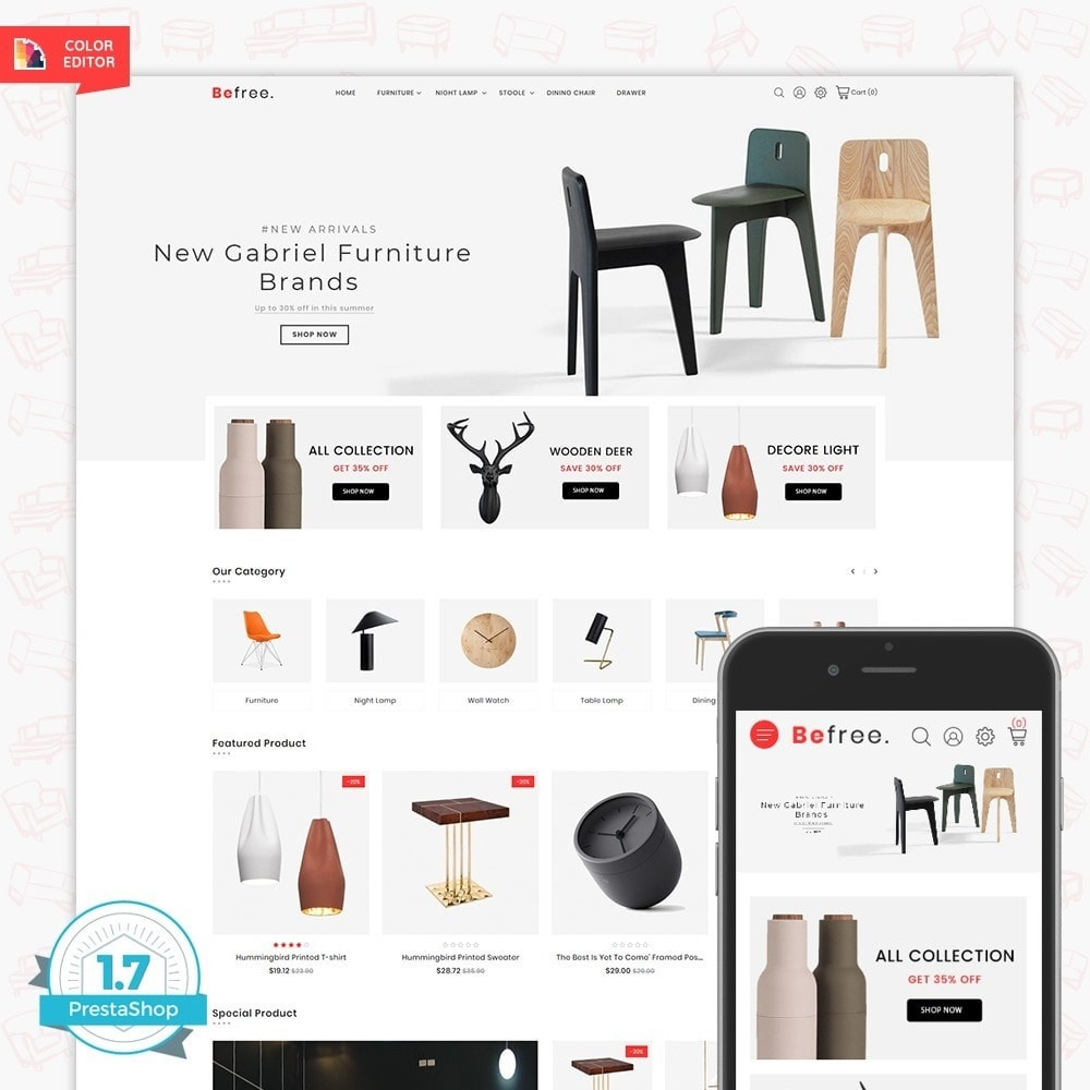 theme - Maison & Jardin - BeeFree - The Furniture Store - 1