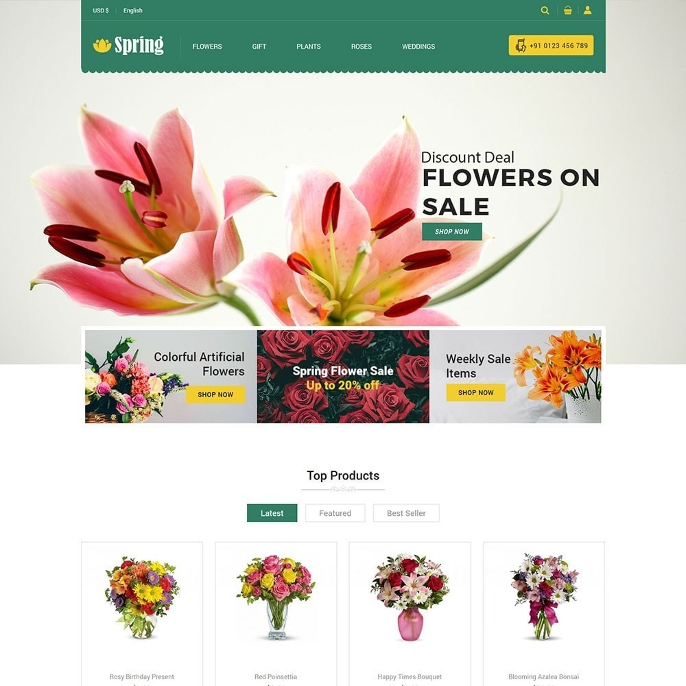 theme - Food & Restaurant - Spring Flower Store - 2