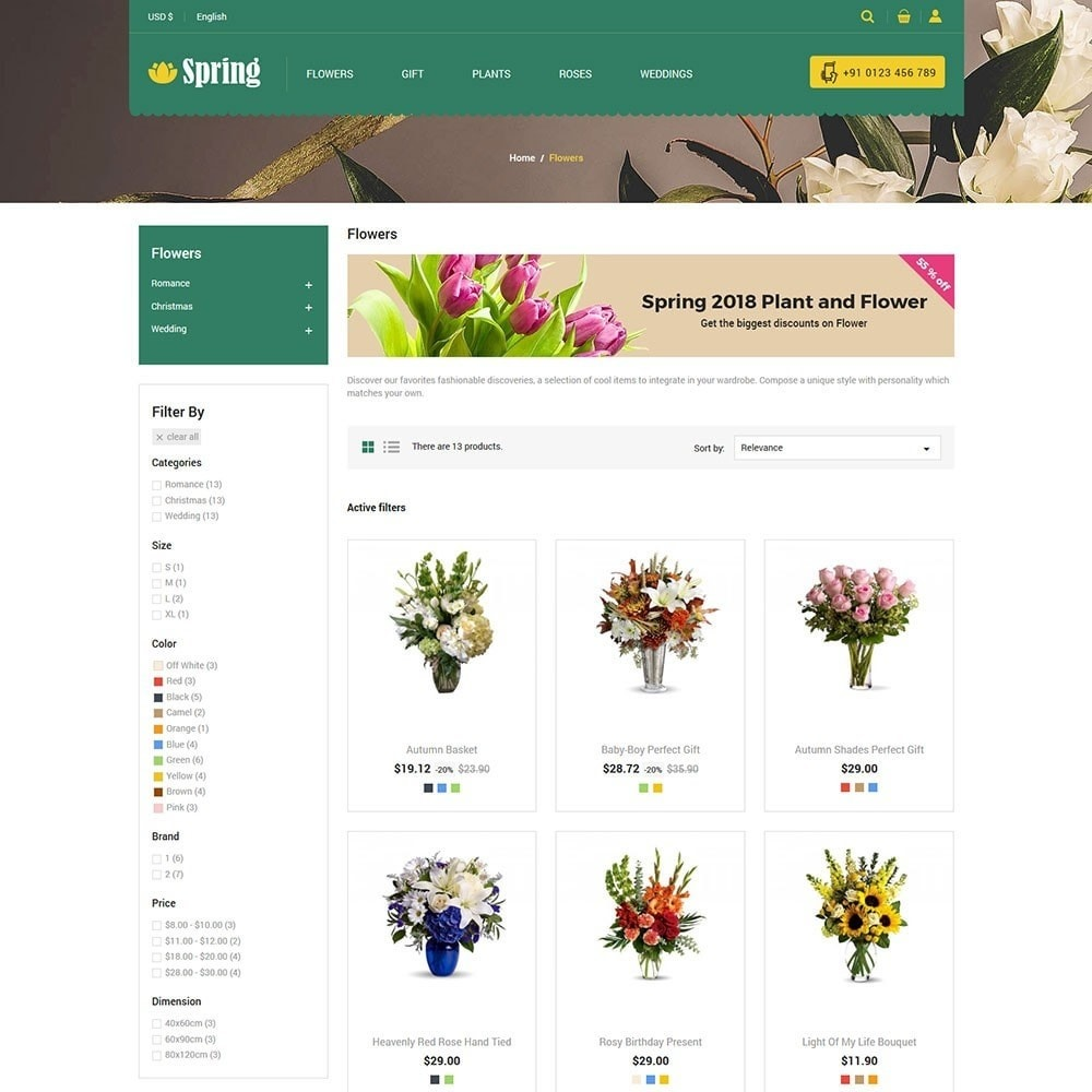 theme - Food & Restaurant - Spring Flower Store - 3