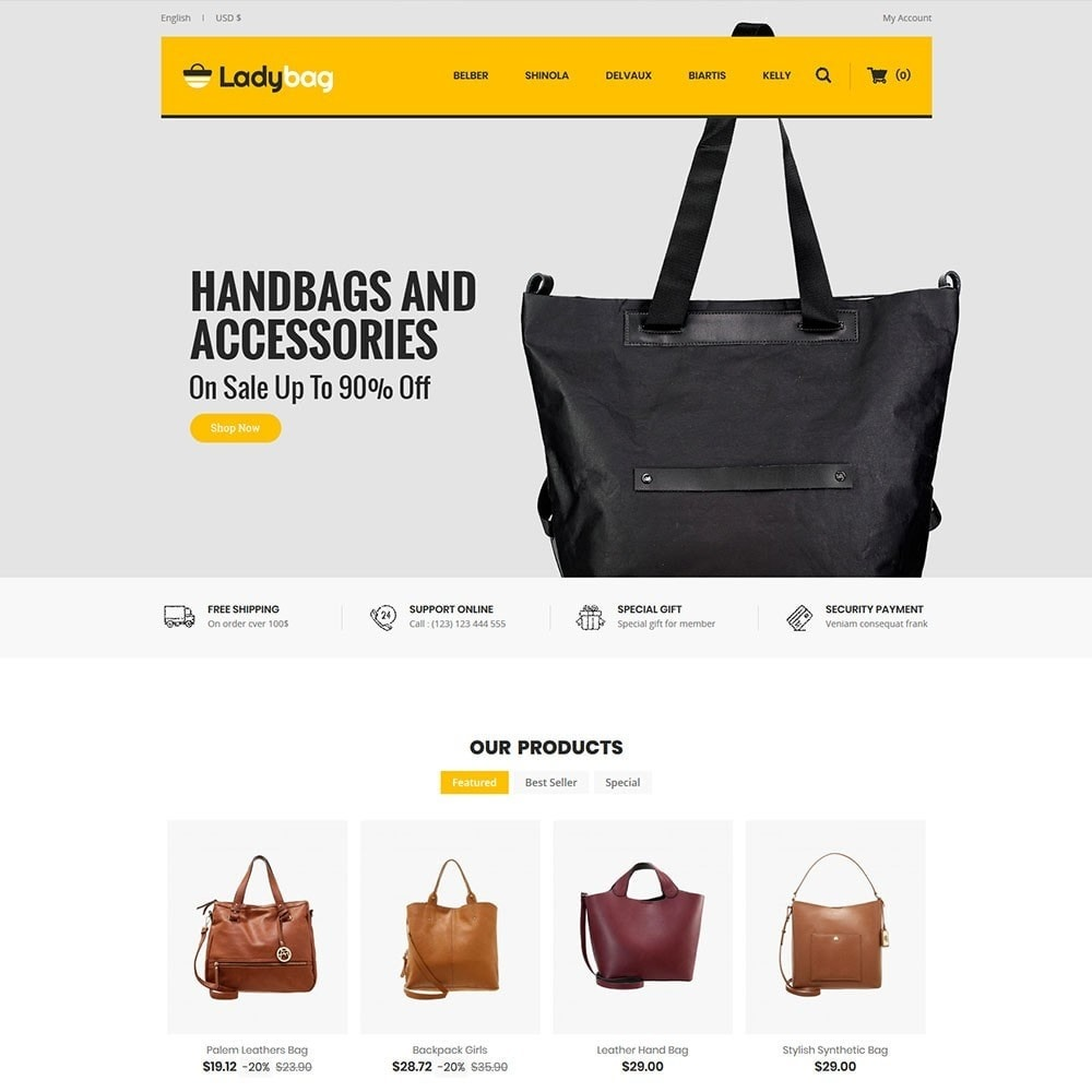 theme - Мода и обувь - Ladybag Bag Store - 2