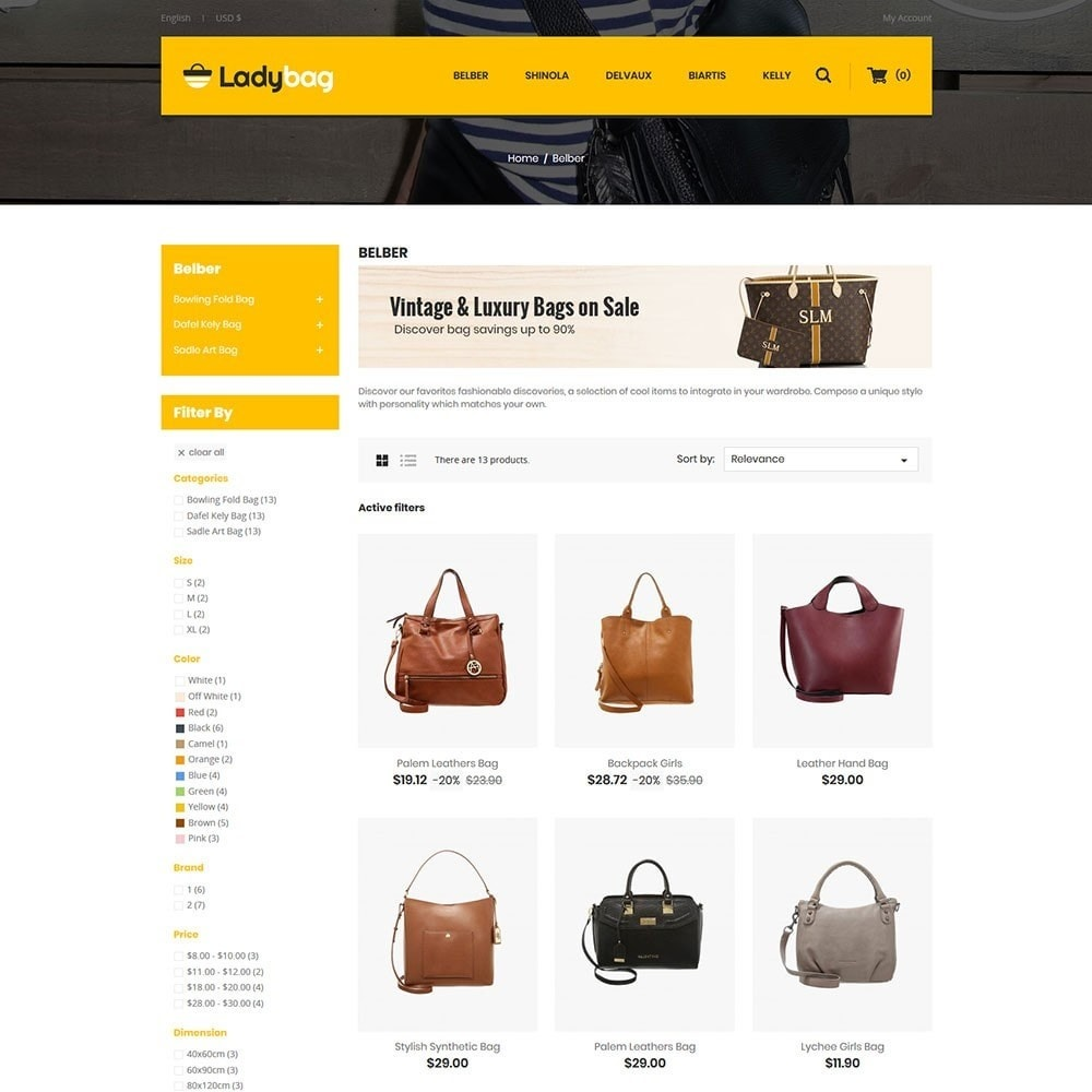 theme - Мода и обувь - Ladybag Bag Store - 3