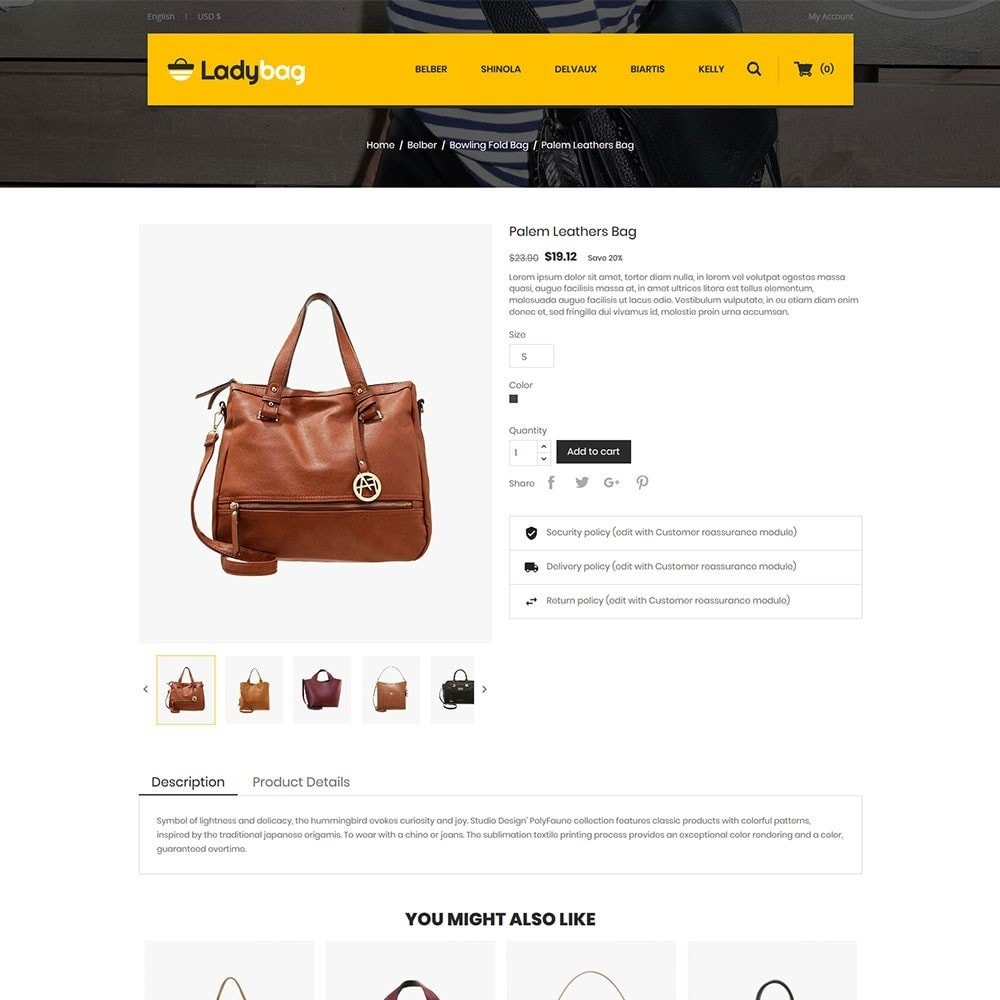 theme - Мода и обувь - Ladybag Bag Store - 5