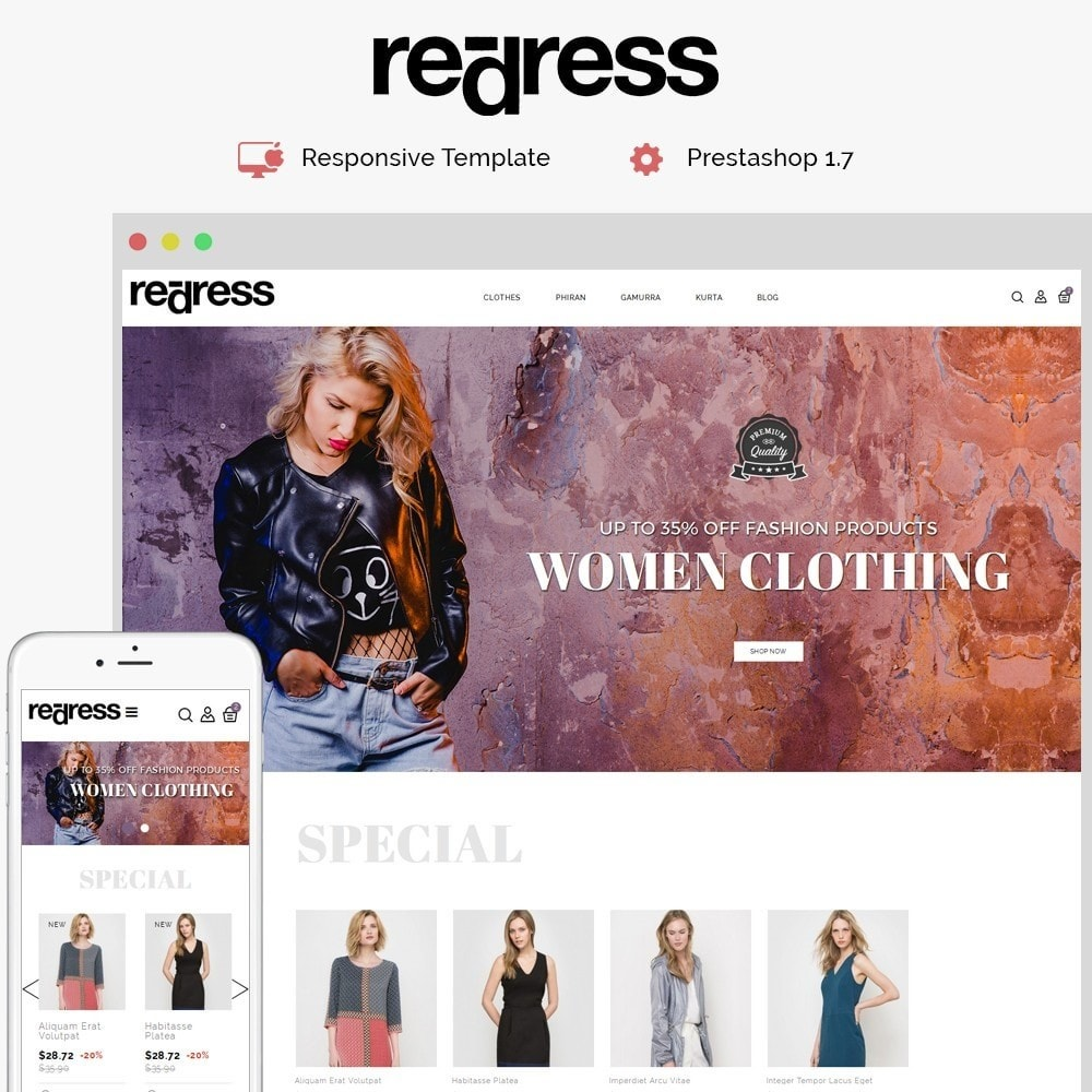 theme - Mode & Schoenen - Redress Demo Store - 1