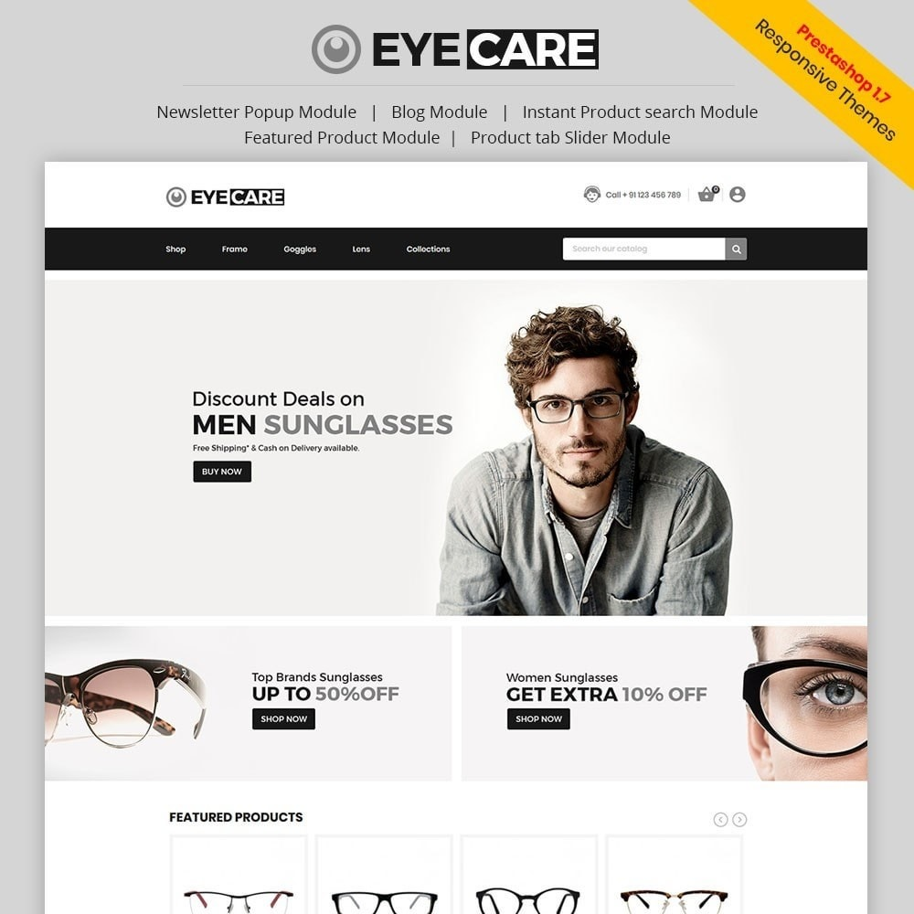 theme - Mode & Chaussures - Eyecare - Fashion Store - 1