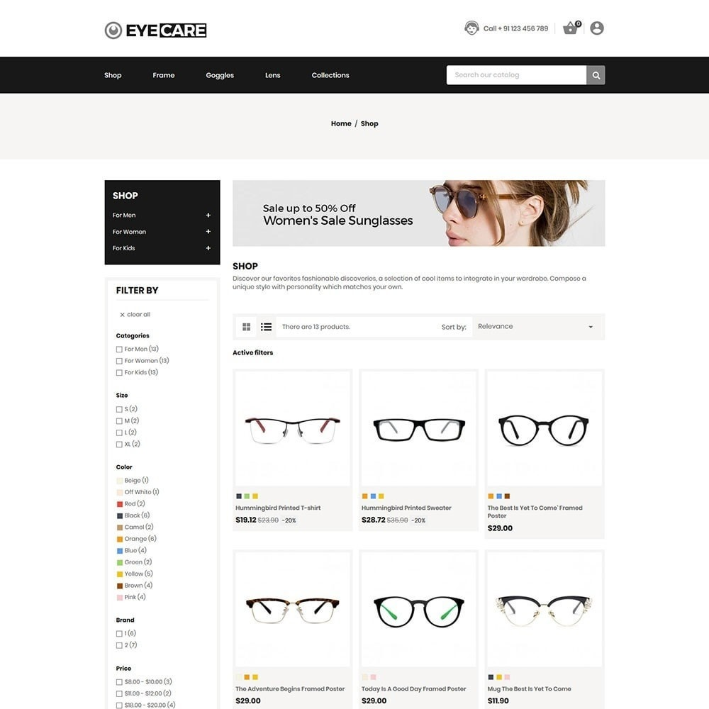 theme - Mode & Chaussures - Eyecare - Fashion Store - 3