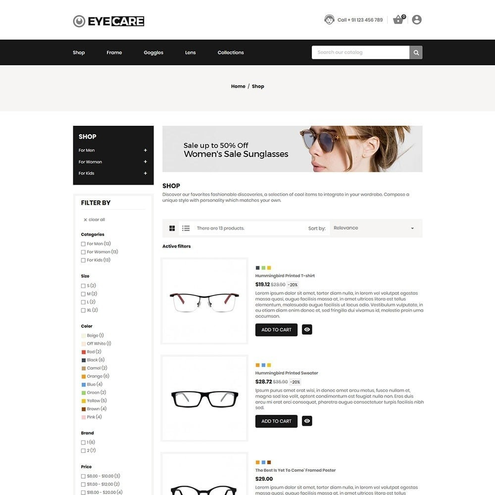theme - Mode & Chaussures - Eyecare - Fashion Store - 5