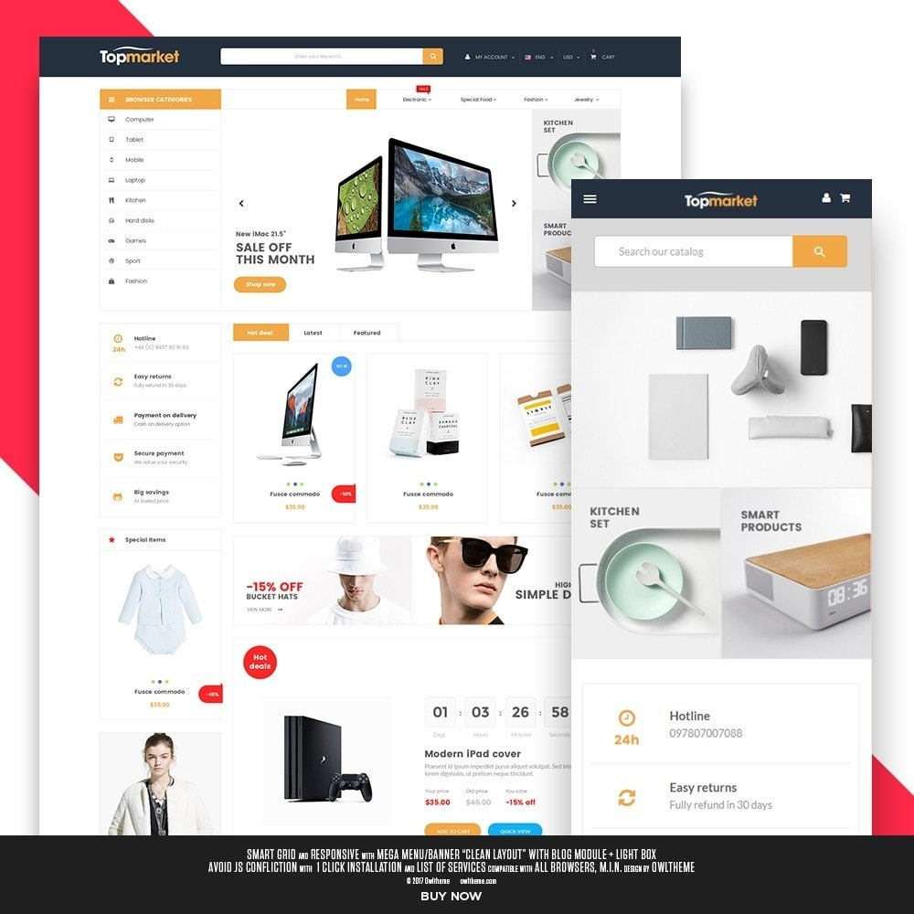 theme - Elettronica & High Tech - Topmarket Electronic Store - 1