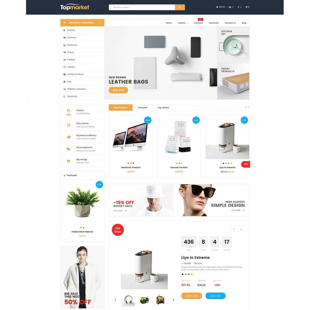 theme - Elettronica & High Tech - Topmarket Electronic Store - 2