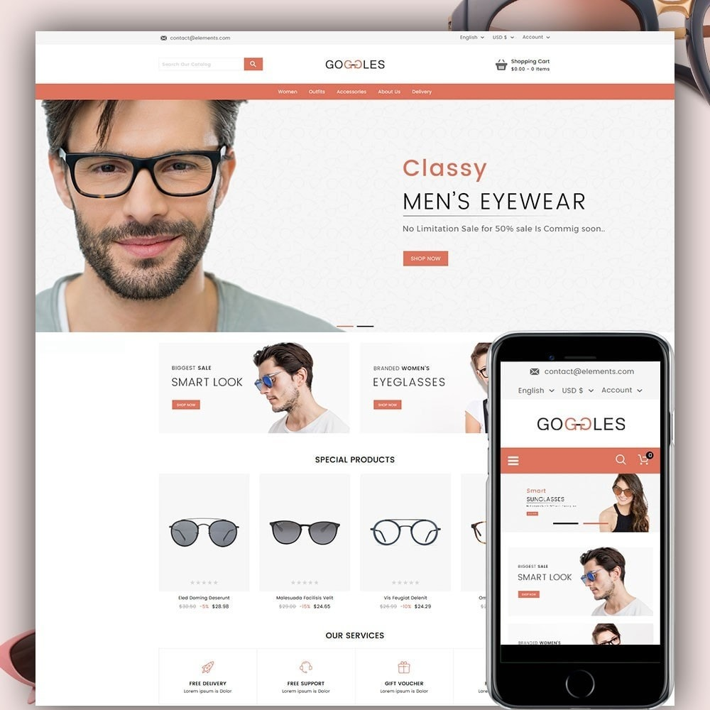 theme - Mode & Schuhe - Goggles Online Store - 1