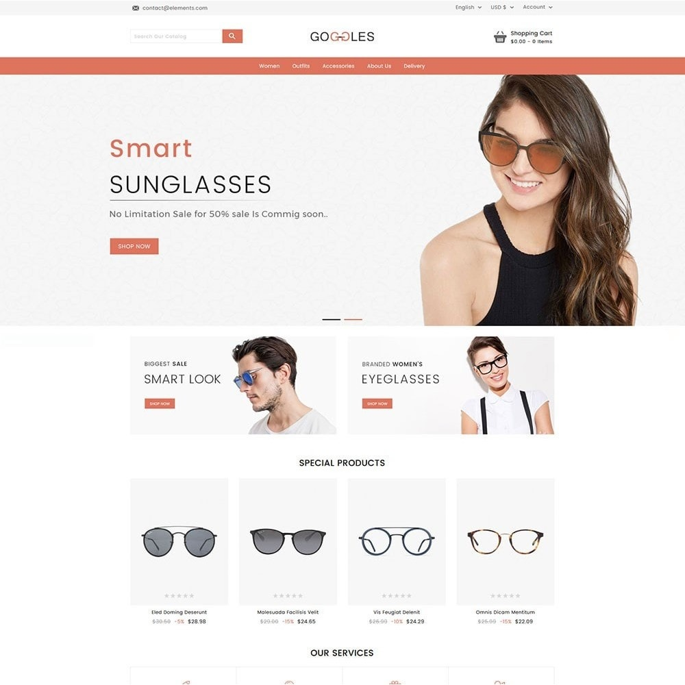 theme - Mode & Schuhe - Goggles Online Store - 2