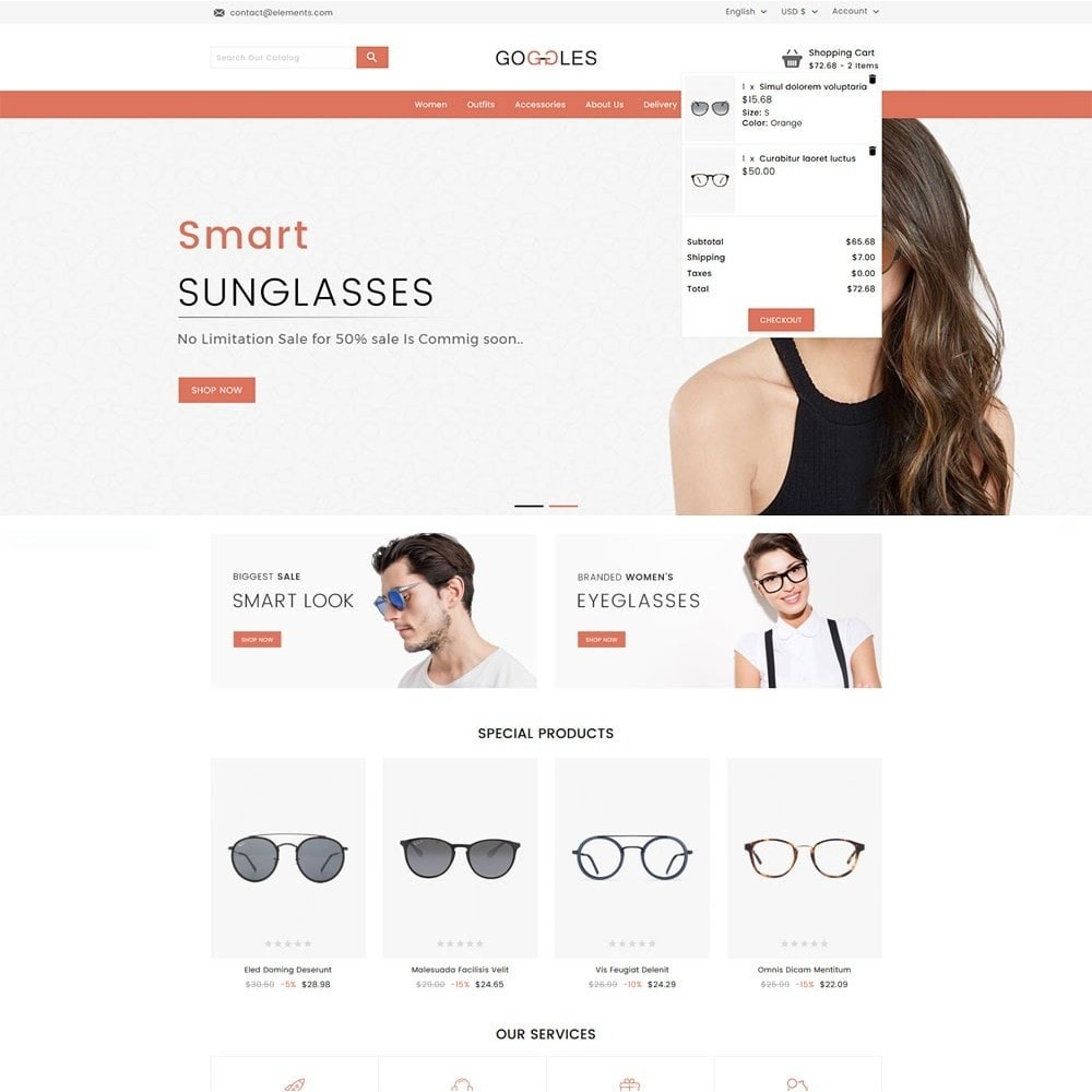 theme - Mode & Schuhe - Goggles Online Store - 3