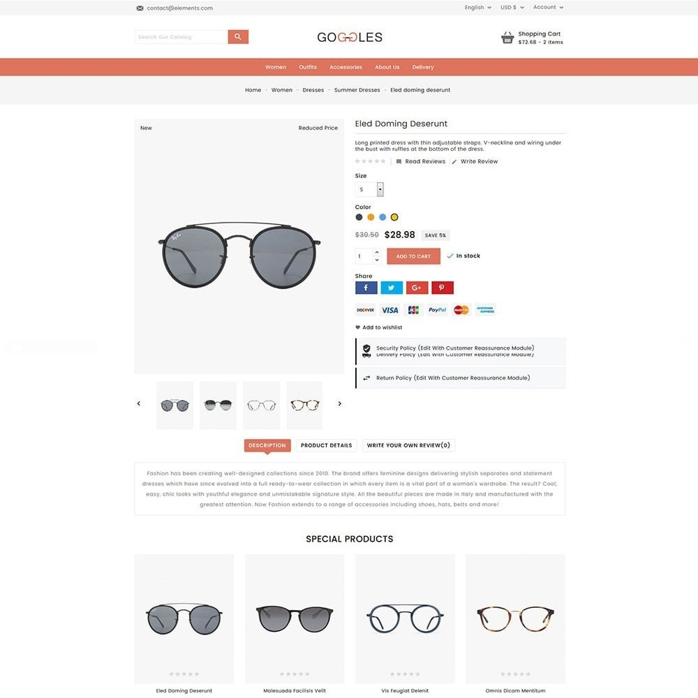 theme - Mode & Schuhe - Goggles Online Store - 4