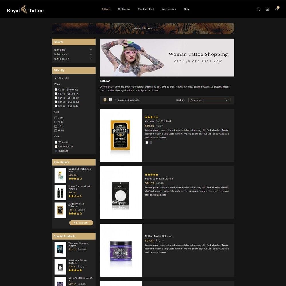 theme - Мода и обувь - Royal Tattoo Tools Store - 4
