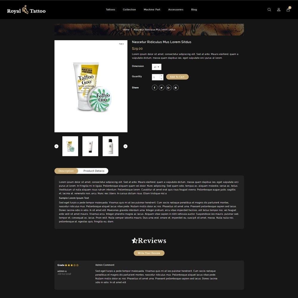 theme - Мода и обувь - Royal Tattoo Tools Store - 5