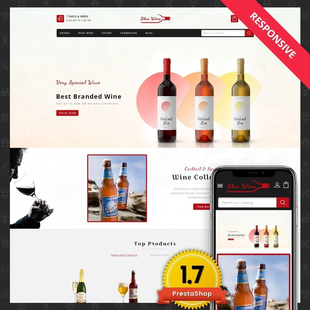 theme - Drink & Tobacco - Blue Wine Store - 1