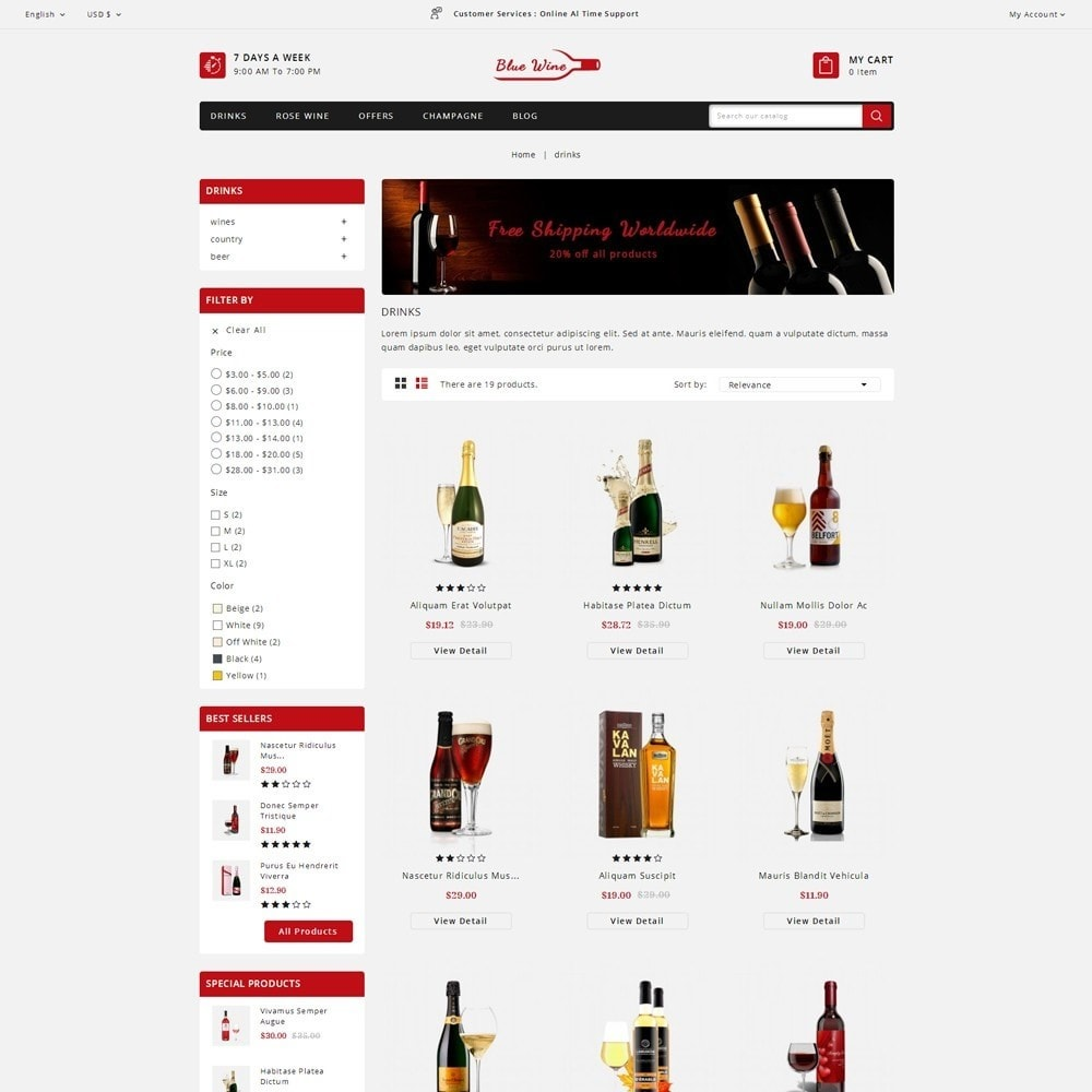 theme - Drink & Tobacco - Blue Wine Store - 3