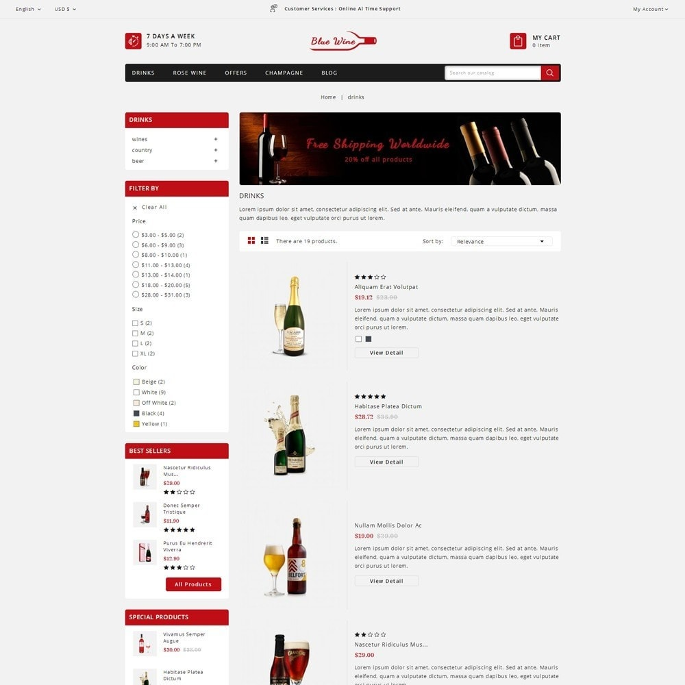 theme - Drink & Tobacco - Blue Wine Store - 4
