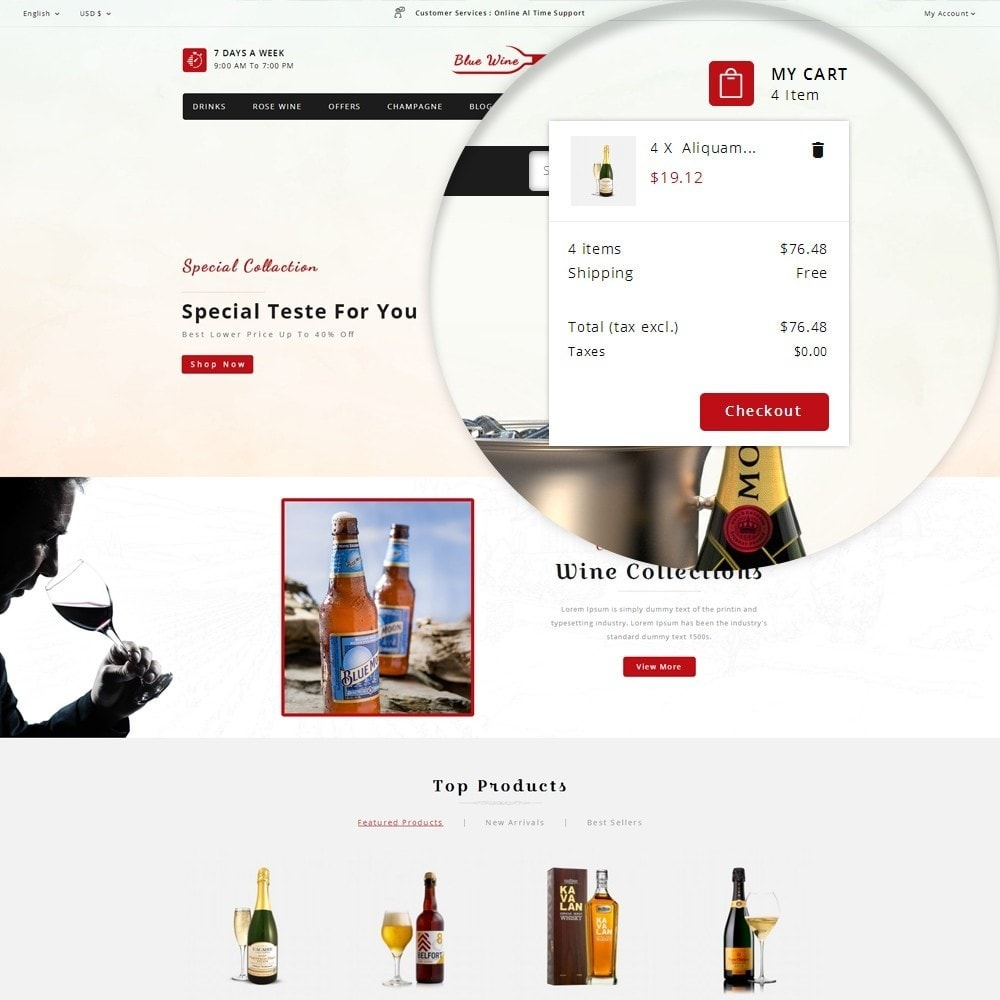 theme - Drink & Tobacco - Blue Wine Store - 6