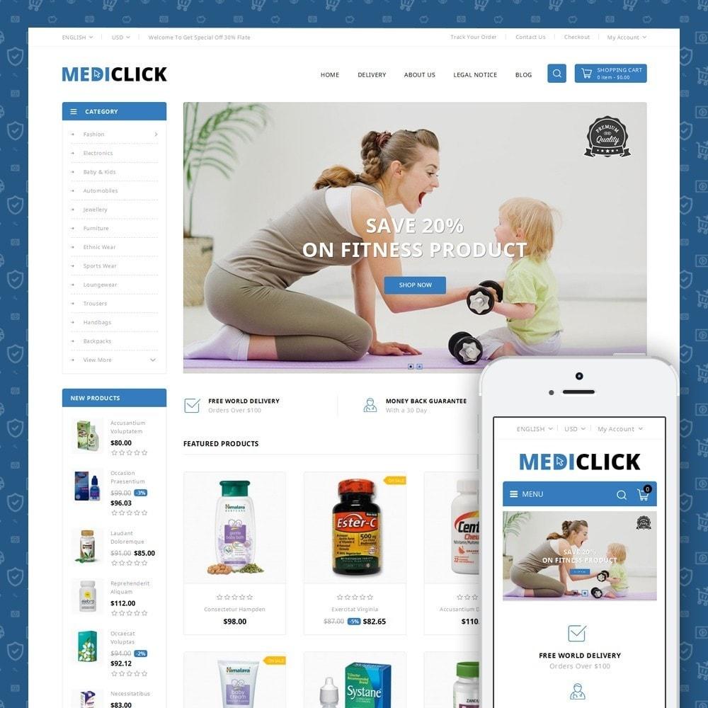 theme - Zdrowie & Uroda - MediClick - Drugs Store - 1
