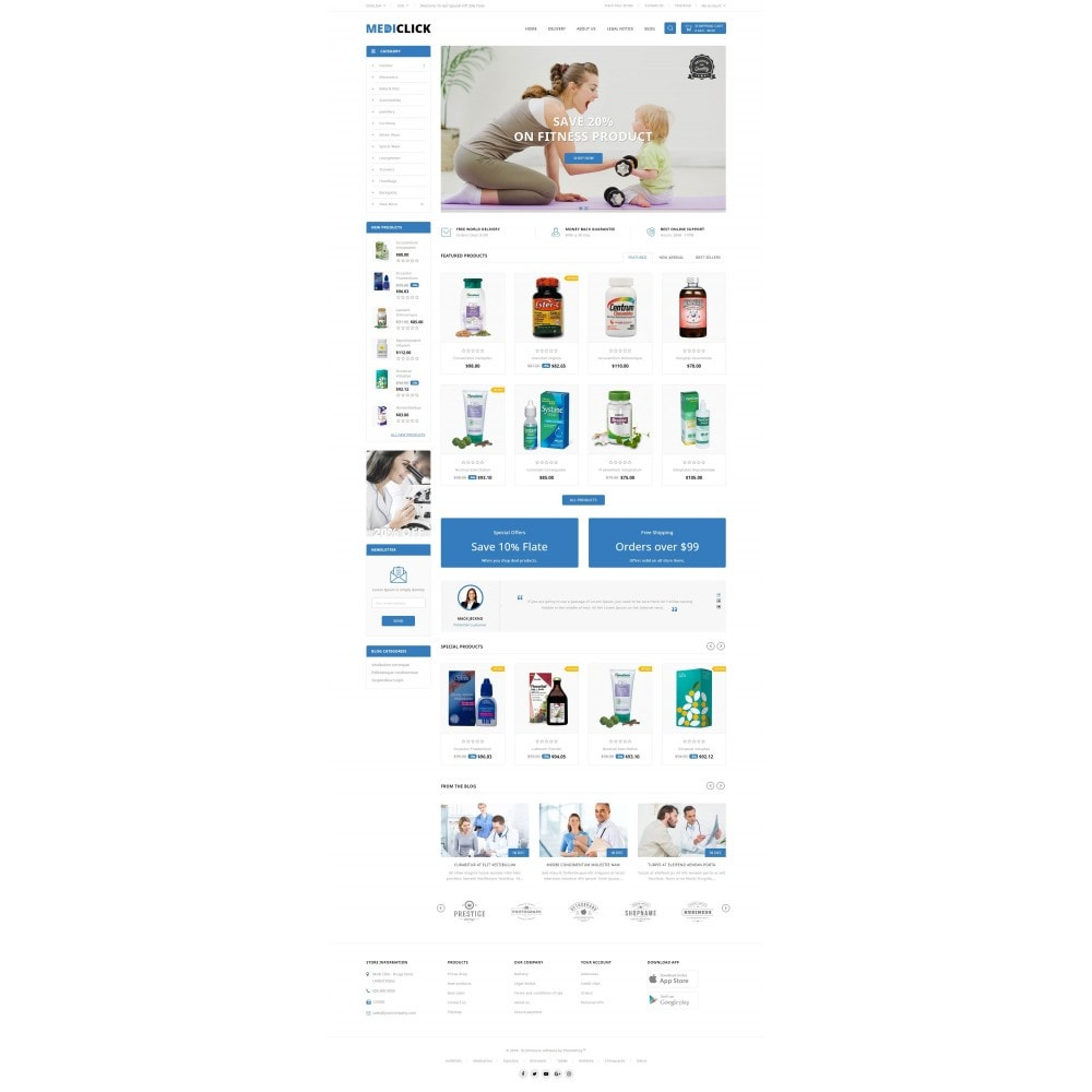 theme - Zdrowie & Uroda - MediClick - Drugs Store - 2