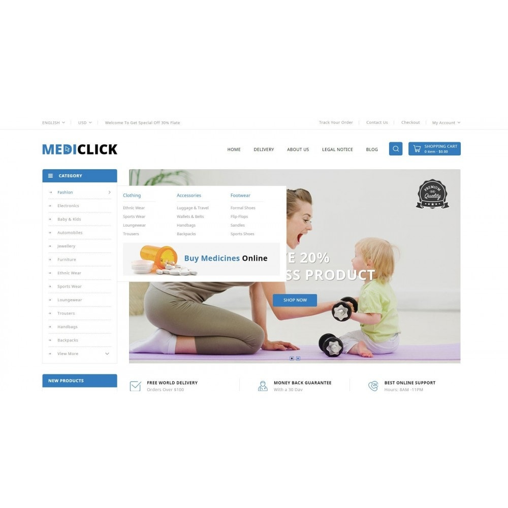 theme - Santé & Beauté - MediClick - Drugs Store - 6