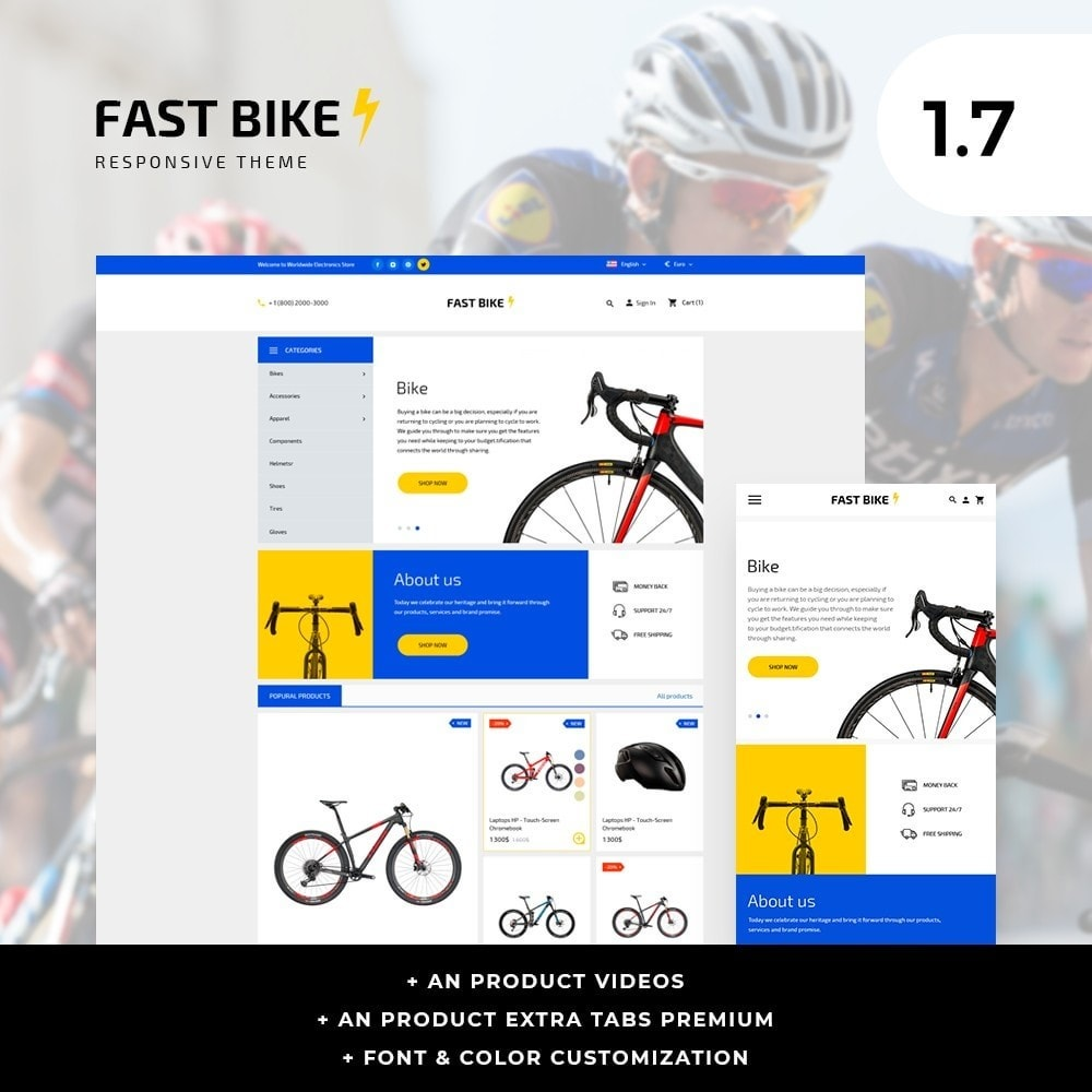 theme - Sports, Activities & Travel - Fast Bike - 1