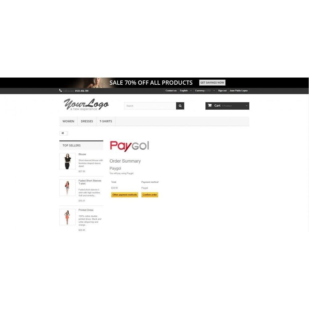 module - Pago con Tarjeta o Carteras digitales - Paygol Plataforma de Pagos - 1