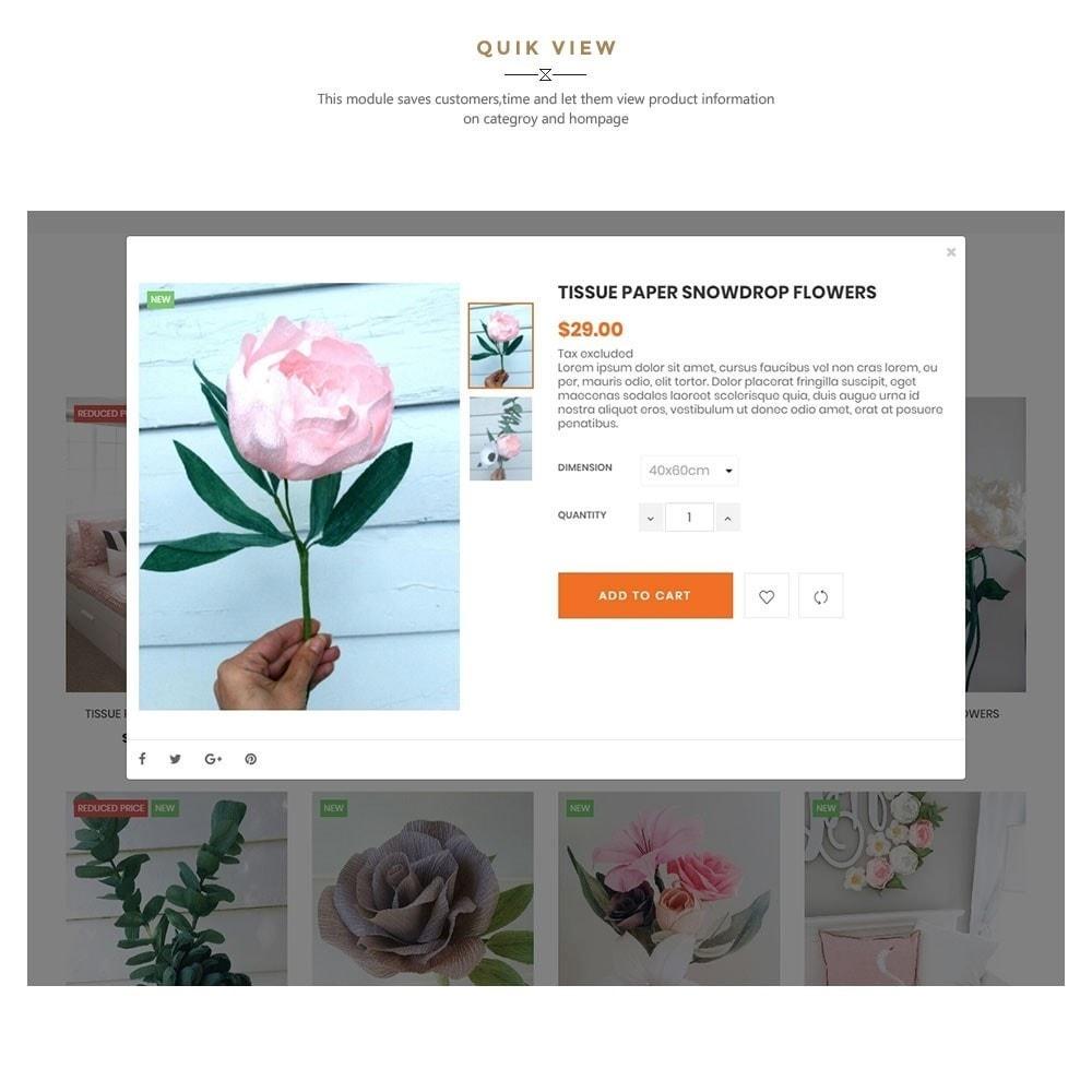 theme - Presentes, Flores & Comemorações - Handmade Flower Store - 7