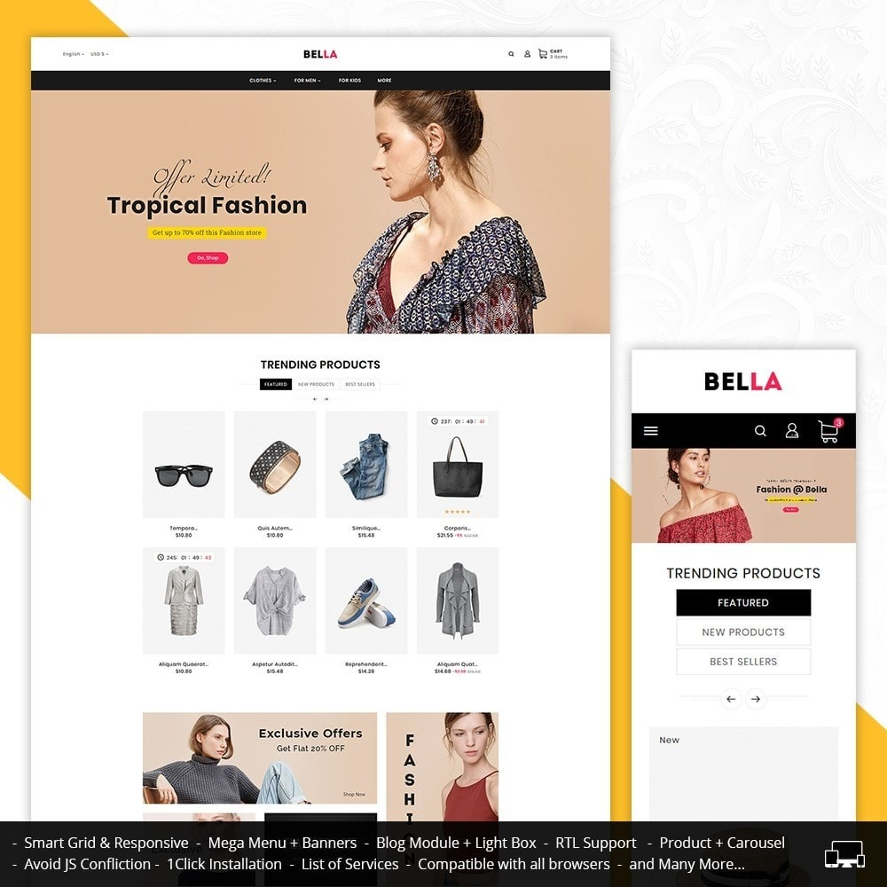 theme - Moda y Calzado - Bella Fashion Apparels - 1