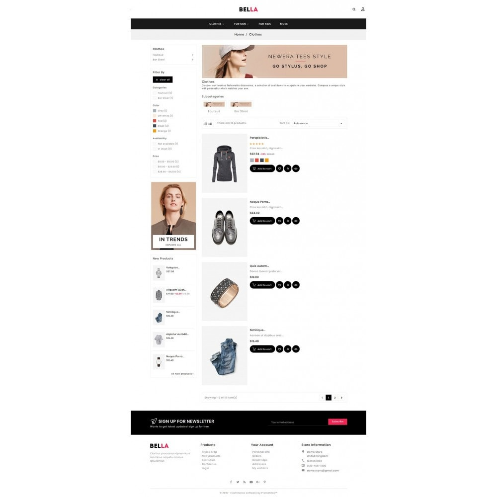 theme - Moda y Calzado - Bella Fashion Apparels - 4