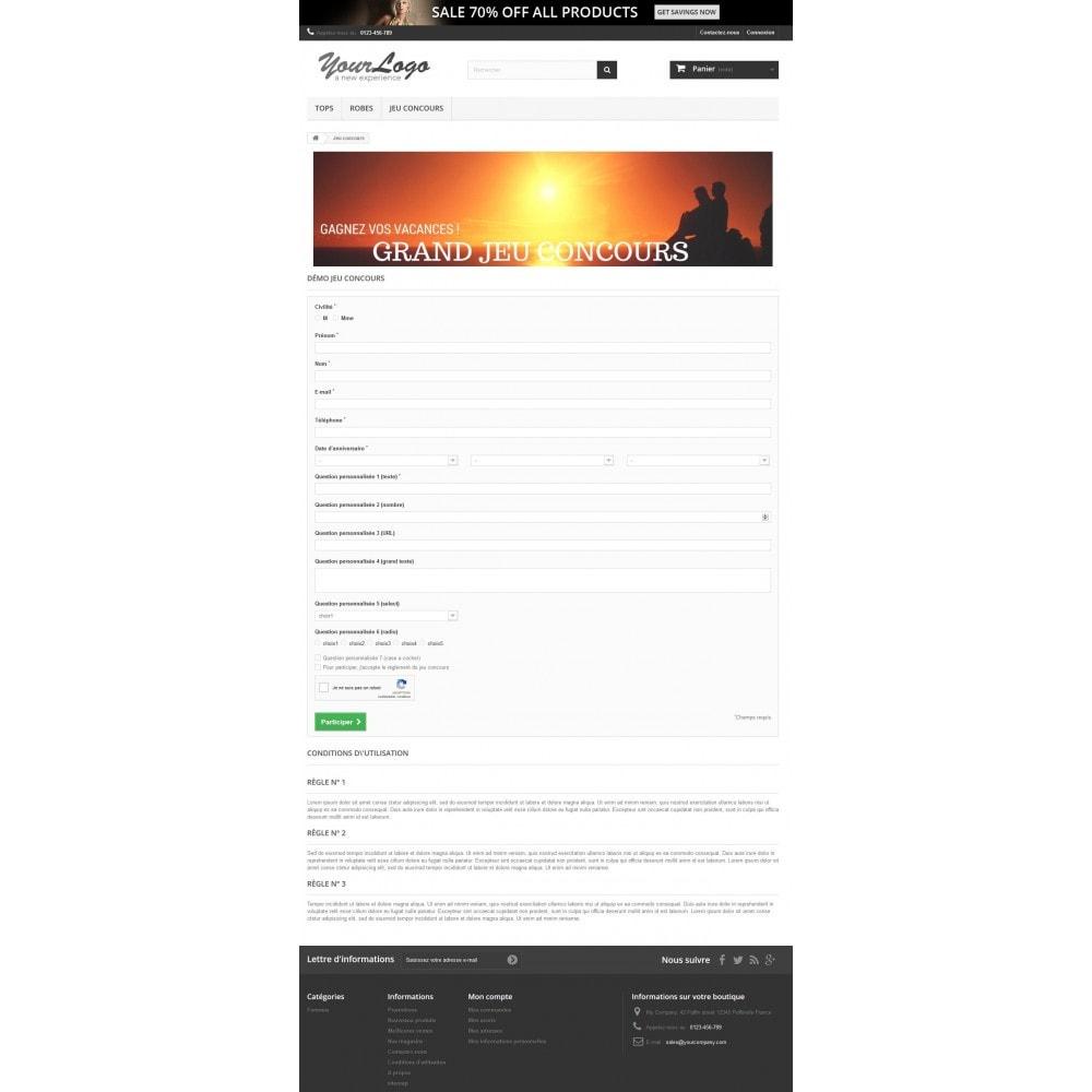 module - Jeux-concours - Jeux concours - Formulaire personnalisable - 2