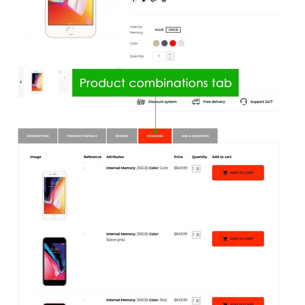 module - Information supplémentaire & Onglet produit - Product Extra Tabs Premium - 4